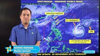 Public Weather Forecast Issued at 4:00 PM November 28, 2019