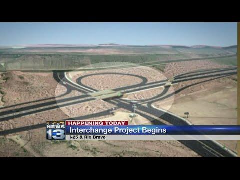 Work begins on Rio Bravo/I-25 Interchange project