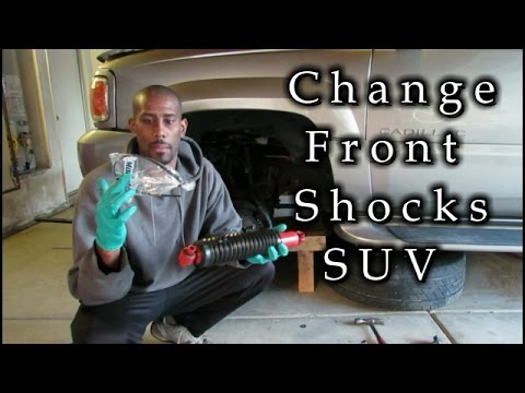 How to replace front shocks on a SUV(Cadillac Escalade)