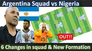 Argentina rumored Line up vs Nigeria!!Argentina Squad World Cup 2018