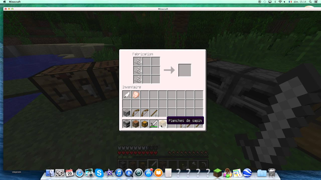 Tutos comment faire un arc dans minecraft mode survival - Comment faire un evier dans minecraft ...