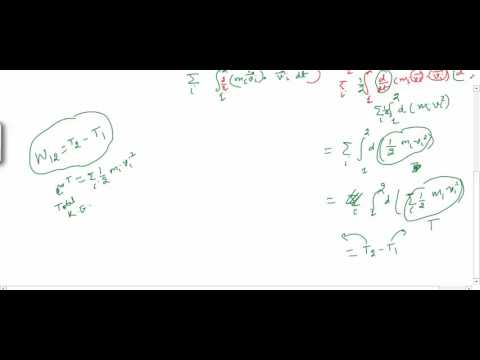 Classical mechanics 7 (Law of conservation of energy for a system of particles)