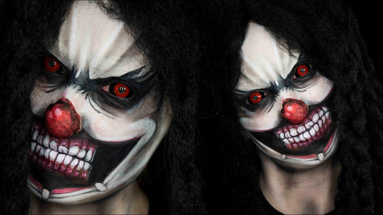 Halloween Clown.Scary Clown Halloween Tutorial
