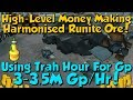 AFK Mining Harmonised Rune! High-Level Money Making [Runescape 3] 3.5M Gp/Hr!