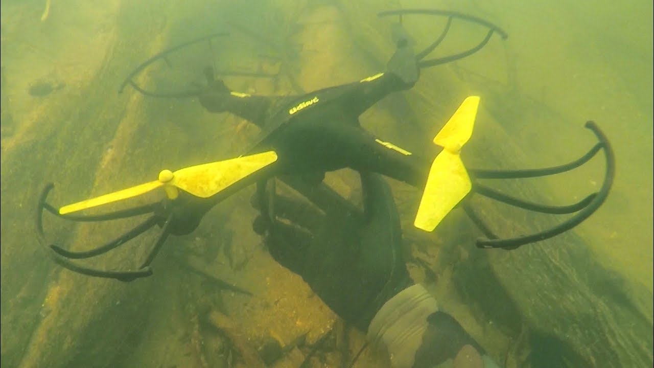 found-drone-lost-4-years-ago-underwater-in-river-scuba-diving