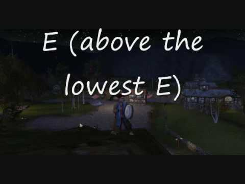 LotRO ABC Notation Drum Sound Check Middle E E