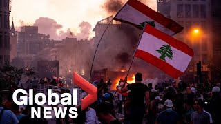 Beirut explosion: Protests continue following resignation of Lebanese government