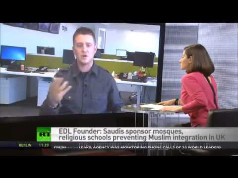 EXCLUSIVE FORMER EDL leader TOMMY ROBINSON agrees that ISLAM is NOT THE PROBLE