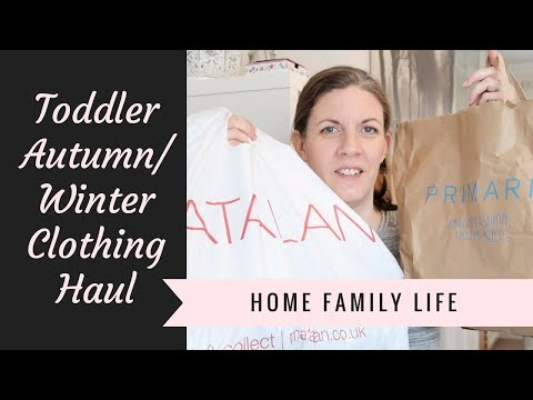 Autumn / Winter Toddler & New Born Clothing Haul