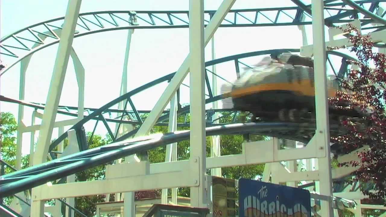 Hurricane Roller Coaster At Adventureland Amusement Park