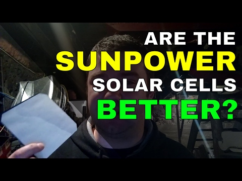 Sunpower solar cells - why do most solar panels suck?