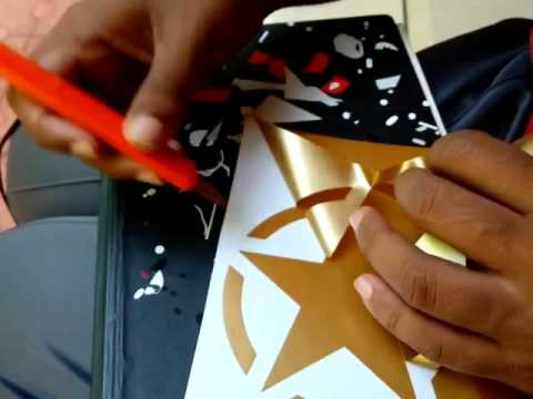 Creating the golden star vinyl sticker for royal enfield maya stickers