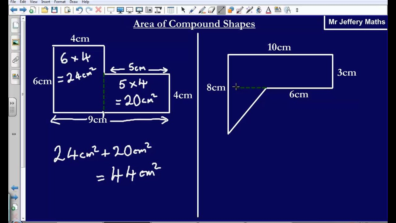 Area of irregular shapes edexcel gcse maths youtube ccuart Gallery