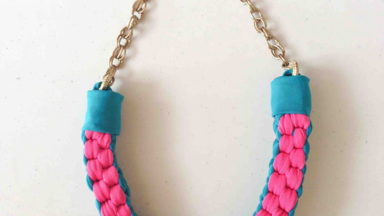 How To Make a Cool Knotted Fabric Necklace