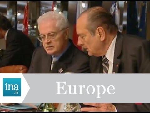 Lionel Jospin et Jacques Chirac au sommet européen de Nice - Archive INA