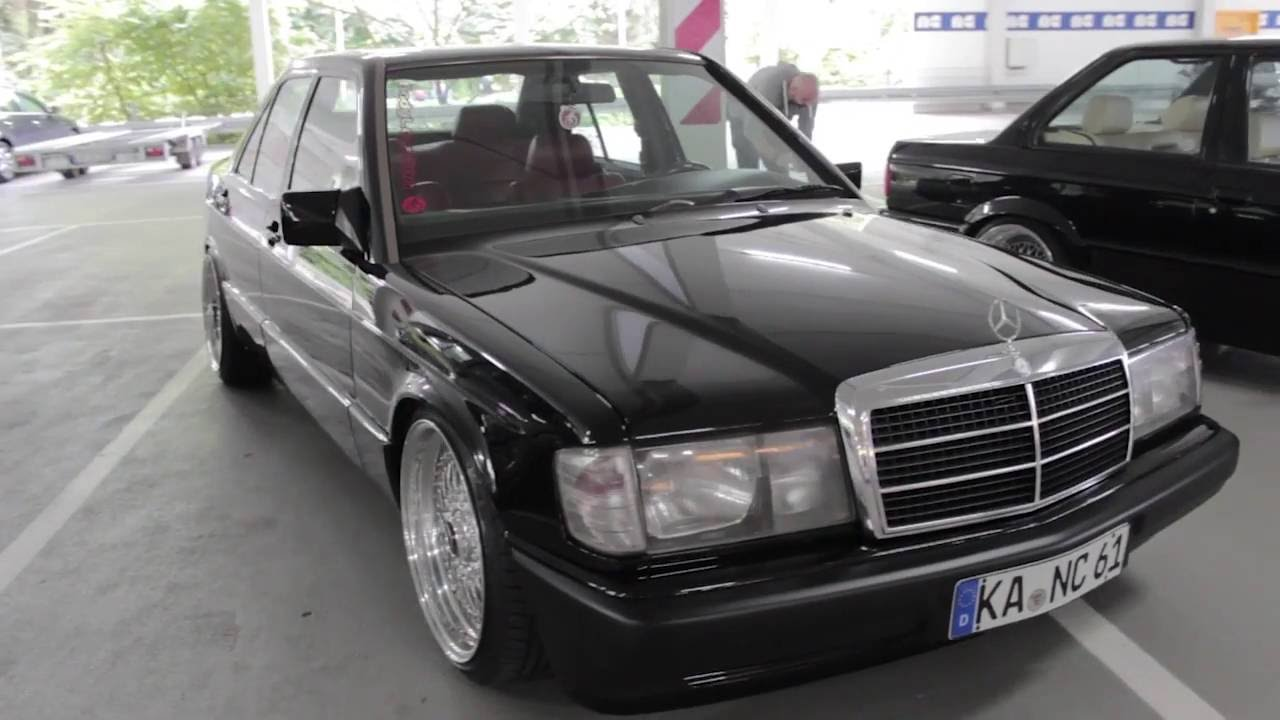 Mercedes Benz 190e W201 Black With 19 Quot Bbs Polished