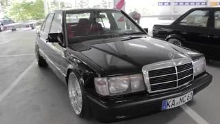 Mercedes-Benz 190E W201 black with 19