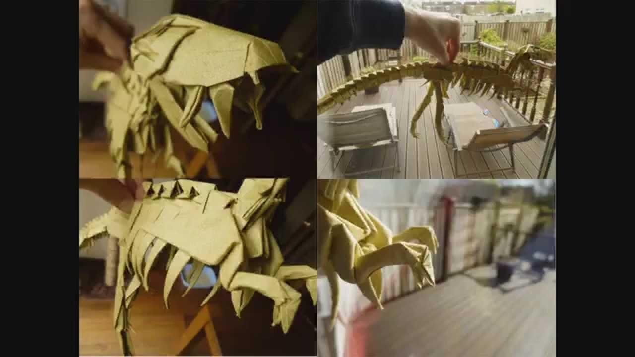 origami trex skeleton issei yoshino youtube