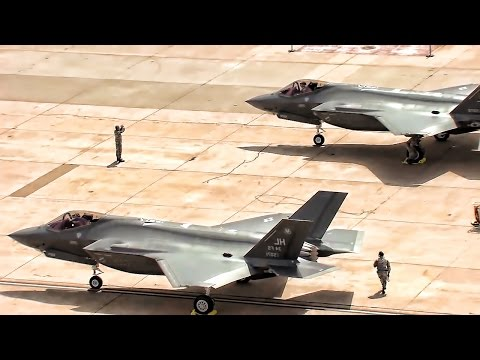 1st Combat-Coded F-35 Lightning II Aircraft Land At Hill AFB