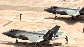 1st Combat Ready F-35 Lightning II Aircraft Land At Hill AFB