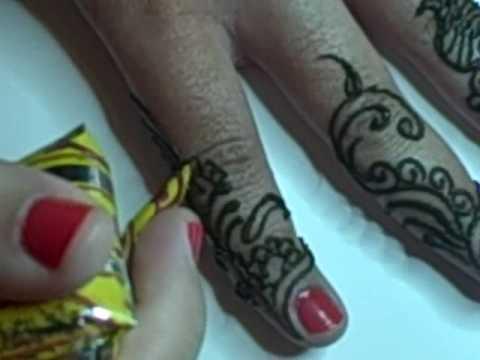 Mehndi Design Kaki : Arabic henna mehndi hand design youtube