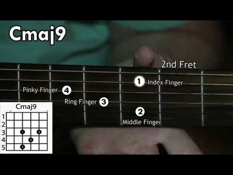 How To Play The Cmaj9 Chord On The Acoustic Guitar Youtube