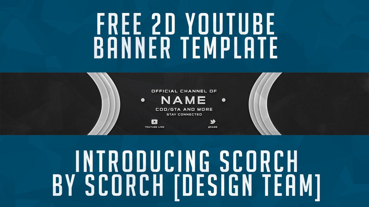 Free Youtube Banner Template 2D / PSD Free GFX - YouTube