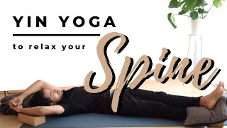 Relax Your Spine Yin Yoga Sequence | 40 minute back stretch | *english*