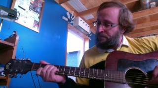 Left-handed upside-down guitar academy lesson 6: basic chords in A major