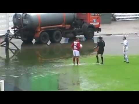 The Wettest Football Match In History - Kazakhstan League Match Played In Ankle Deep Water