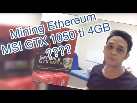 Ethereum Mining Hashrate MSI GTX 1050 Ti 4GB GAMING X (rev)