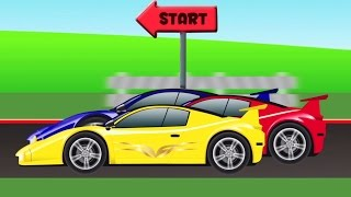 mobil sport | ras | mobil kartun | Race  | Cartoon Car Racing For Toddler | Sports Car For Children