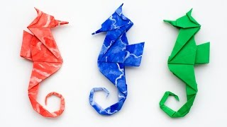 Origami Seahorse Instructions. How to make an Origami Seahorse
