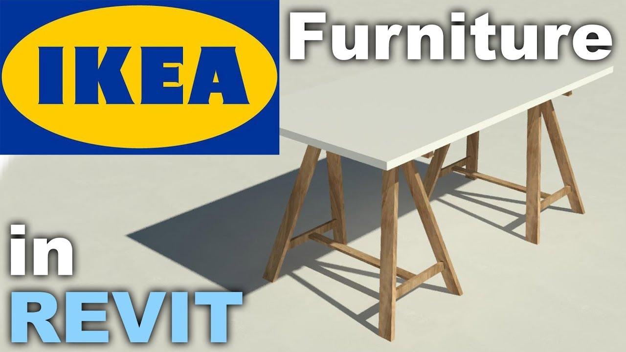 Ikea Furniture Family In Revit Tutorial Youtube