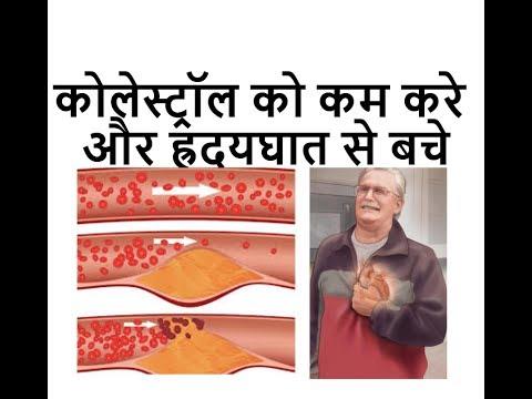 LDL कोलेस्ट्रॉल को कम करे और ह्रदयघात से बचे || Cholesterol, Low-density lipoprotein in Hindi