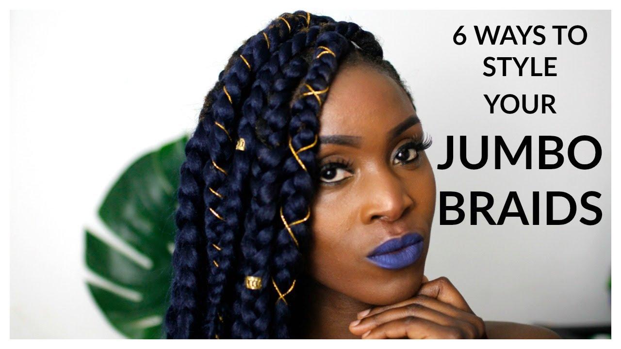 Jumbo braids 6 ways to style your jumbo braids