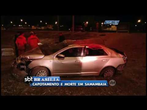 Capotamento e morte em Samambaia
