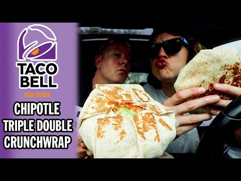 Taco Bells Chipotle Triple Double Crunchwrap Food Review