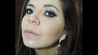 Maquiagem Dourado Clean - Com produtos inusitados ;)