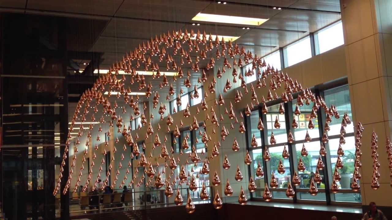 Kinetic Rain Changi Airport Singapore Youtube