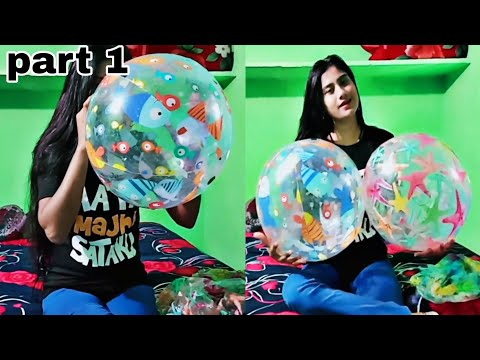 Inflating 24 inch 2 beach balls part 1 / intex 24 inch beach ball/ how to blow beach ball perfectly