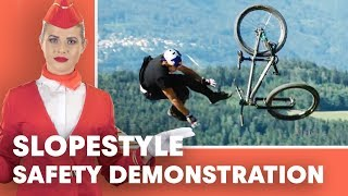 Please Pay Attention To Our Slopestyle Safety Demonstration. | Crankworx 2018