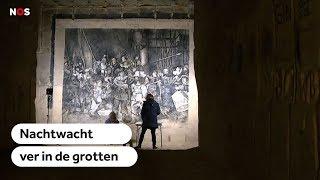 Replica Nachtwacht in grotten Maastricht gerestaureerd