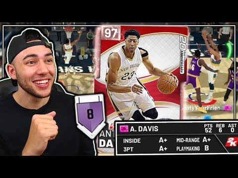 *NEW* PINK DIAMOND ANTHONY DAVIS GAMEPLAY! THE BEST PF IN THE GAME! NBA 2K19 MyTeam