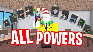 So I used ALL POWERS in Roblox Murder Mystery 2...