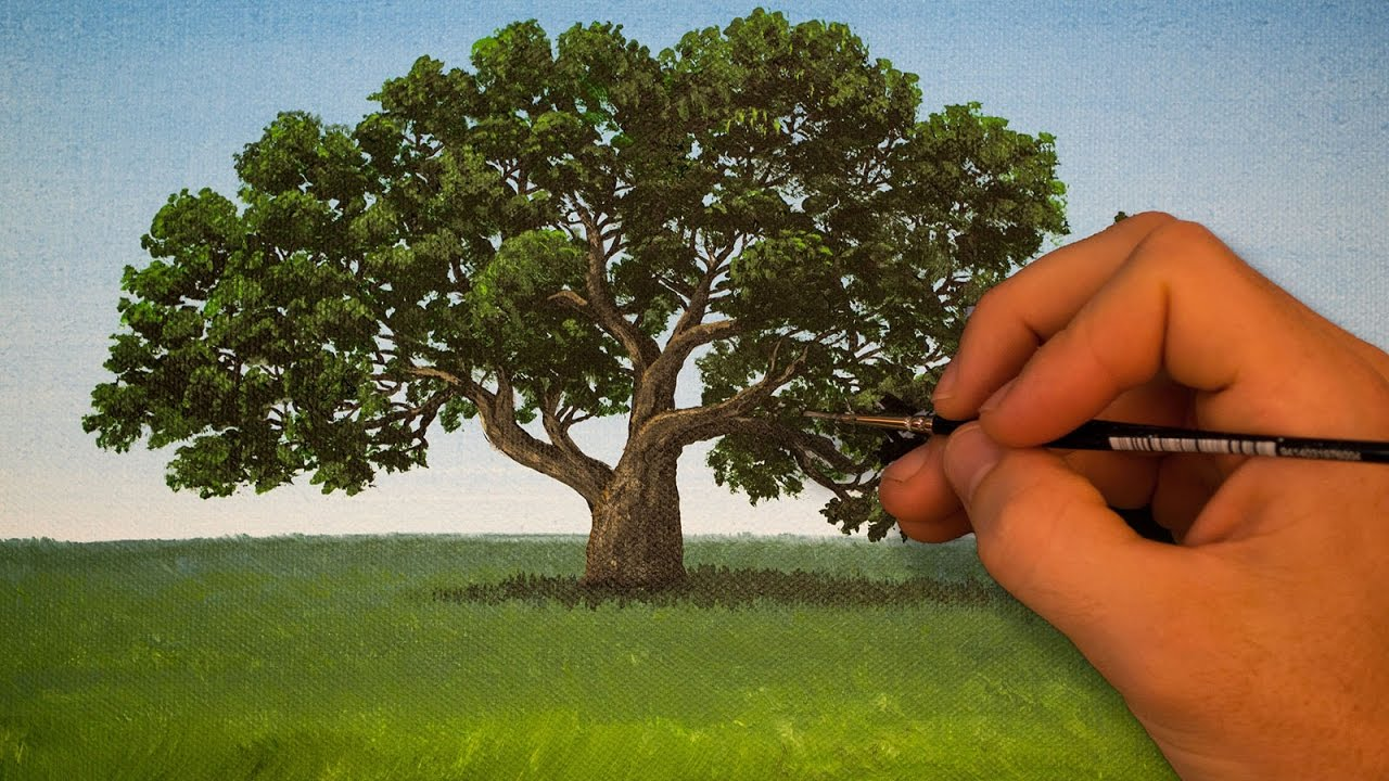 How to Paint a Tree Using Acrylics  Quick Acrylic