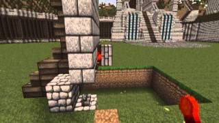 Minecraft, LOTR / Dwarven Throne Chair, Secret Entrance Tutorial, By Jeracraft