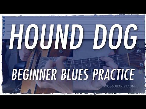"""hound-dog""-guitar-tutorial-+-beginner-12-bar-blues-practice-(elvis-presley)"