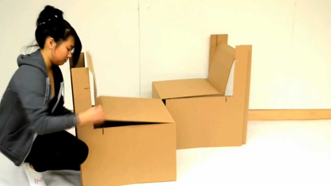 Corrugated Cardboard Furniture Rsid Cardboard Chair Project Youtube