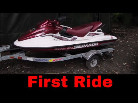 Yard Sale Jet Ski Repair and Ride,part 2